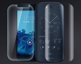 Wholesale-Front Tempered Glass Screen Protector + Back HD Clear Film for Yotaphone 2 YotaPhone2