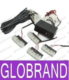 Descuento nave de luz estroboscópica de advertencia 4x3 de color ámbar blanco LED flash estroboscópico Advertencia ccsme carro del coche de bomberos ligeros el destellar las luces de 4 x 3 GLO375 libre del envío