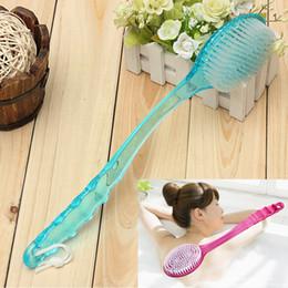 Wholesale Long Handled Body Bath Shower Back Brush Scrubber Massager Disability Helper Body Brush Massager Bath Shower Back Spa Scrubber