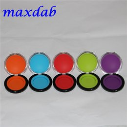 Wholesale 20pcs Acrylic silicon container ml wax concentrate make up silicone containers box food grade ABS makeup case dab dabber jars tool storage