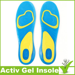 Wholesale Custom Design Print Logo Foot Care insole NEW Velvet Active Everyday Gel Insoles For Men Gel Activ insole For Shoes Heel Knees Ankles