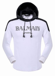 Wholesale Balmain Causal Men s Hoodies Sweatshirt Autumn Winter Pullover Men Sportwear Mens Coat Jogger Running Sport Brand Designer