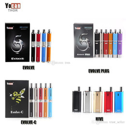 Authentic Yocan Evolve-C Evolve-D Evolve Plus Hive Starter Kit Wax Dry Herb Pen Vaporizer With 650 1100mAh Battery Oil Wax Atomizer