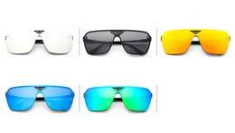 Wholesale Colorful fashion sunglasses the same paragraph Siamese dark glasses reflective sunglasses tide wild glasses