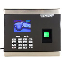 Wholesale High Grade Metal Frame Biometric Time Recorder Fingerprint Time Attendance F6136H
