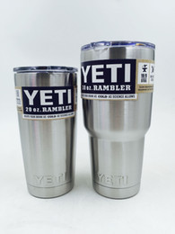 Wholesale DHL Free Stainless Steel oz Yeti Cups YETI Rambler Tumbler Cup Vehicle Beer Mug Double Wall Bilayer Vacuum Insulated