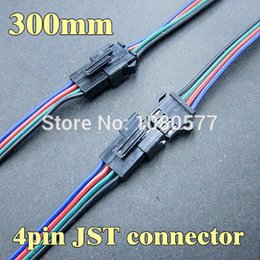 20 pair 300mm Male And Female JST Connector 4 Pin Plug For 3528 5050 RGB LED Strip Connecting