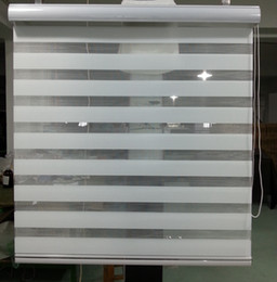 Wholesale Hot Sale Translucent Roller Zebra Blinds in White Custom Size Curtains for Living Room Colors are Available GY01