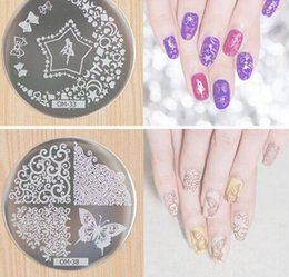 Wholesale Nail Art Round Stainless Steel Plates DIY Polish Templates Nail Tools OM series