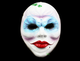 Smays Game Payday 2 Cosplay Polyresin Mask Game Roles Female Robber Clown Party Show Scary Masks Free Shipping