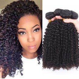 """Cheap Price Brazilian Hair Weave Kinky Curly Style Natural Color Unprocessed Kinky Curly Hair 10""""-30"""" Kinky Curly Hair Extensions"""