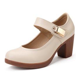 2016 Fashion Women Pumps Women High Heels Genuine Leather Platform Shoes Wedges Summer Shoes Buckles Design