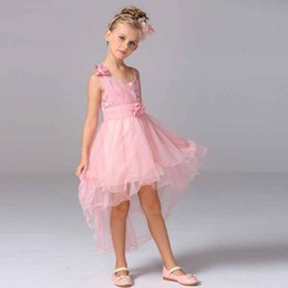 Compra Online Faldas para las muchachas de los niños-2016 nuevos niños se visten princesa vestido de novia vestido de la falda del tutú muchachas de flor sola correa de hombro