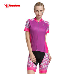 Tasdan Women's Cycling Jersey Sets Bicycle Wear Mountain Bike Clothing High Sublimation Print Quick Dry Breathabel Fabric Gel Pad