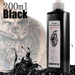 Professional Black Tattoo Inks Pigment 200 ml Bottle Tattoo Black Ink Special Body Paint Tattoo Body Art Colors