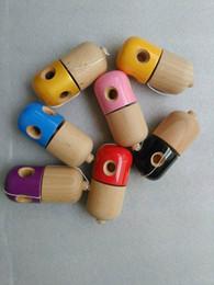 5 trous Pill Kendama ballon japonais traditionnel Jeu de bois enfants jouets 11x5CM PU Coatting hêtre libre dhl à partir de trous bois fabricateur