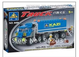 Free Shipping--In 2016 year new product's blocks open truck (163 Pcs) wisdom