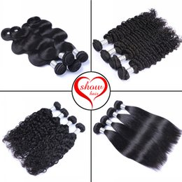 Peruvian Hair Unprocessed Virgin Human Hair Weaves Peruvian Body Wave Deep Wave Natural Wave Straight Hair Extensions Double Weft Bundles