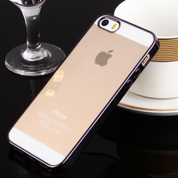 For Apple iphone 5S SE Case Ultra-Thin Plating Clear Soft Silicone Transparent TPU Phone Cover For iphone5S