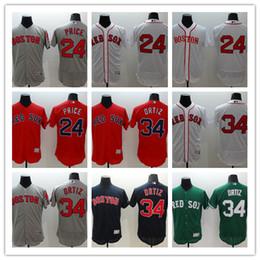 Wholesale 2016 Flexbase MLB Stitched boston red sox Davie Price David Ortiz White Red Blue Gray Green Baseball Jersey Mix Order