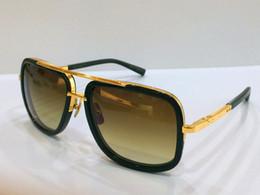 Wholesale DITA sunglasses dita Mach One men brand designer square shape retro vintage summer style men sunglasses shiny K gold with original case