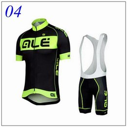 Wholesale Hot Pro Team ALE Cycling Jersey Short Sleeve Jerseys Bib Shorts Set Breatheable Cycling Clothings Maillot Bike Bicycle Wear XS XL Unisex