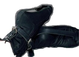 Wholesale Full Feet Leather Bondage Bind combinations Adult Sex Games yoy Fetish Foot Restraint Shoes
