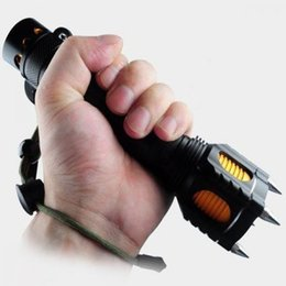 Wholesale In business very useful life gear Lm Tactical CREE XM L T6 LED Four Attack Heads Audible Alarm Flashlight Set T6 Flashlight