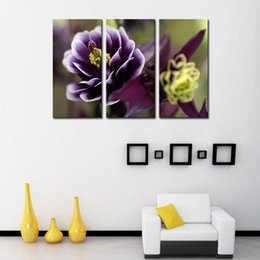 3 Picture Combination Canvas Print Wall Art Painting For Home Wall Decor Orchid Flowers The Picture For Living Room Decoration