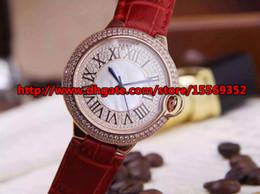 New hot luxury business classic noble precision imported quartz waterproof belt Diamond Ladies Watch rose gold case