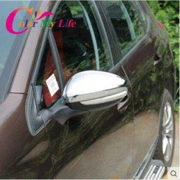 caso de la cubierta de cromo decorativo copia de seguridad de la venta caliente del espejo retrovisor retrovisor de 2014 accesorios del coche 2015 2016 Peugeot 2008 desde coche espejo decorativo proveedores