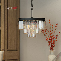 Wholesale _ tier retro restoration style odeon prism clear crystal chandelier flush mount lighting