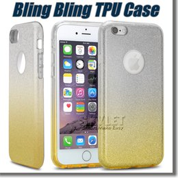 Wholesale For Iphone Glitter Gradient Case Gradient Ramp Bling Bling Case For Samsung S7 S7 Edge with OPP Package