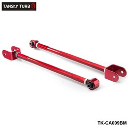 TANSKY - Adjustable Rear Lower Control Arm Bar Rod Camber Kit For 95-05 BMW E46 E36 Z4 M3 3-SERIES 3-Series Red TK-CA009BM