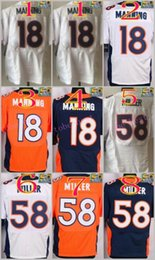 Wholesale NIK Elite Football Stitched Broncos Peyton Manning Von Miller White Blue Orange Jerseys Mix Order