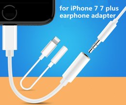 Wholesale for iPhone7 earphone adapter converter cable mm aux audio female to lighting male connector adapter cord for iPhone plus