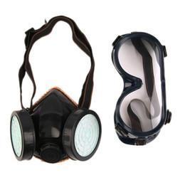 Promotion masque pour les produits chimiques Gros-Protection Filtre Double Gas Mask Gas Chemical Respirateur Masque chaud de vente