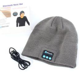 Wholesale New Warm Beanie Hat Wireless Bluetooth Smart Cap Headphone Headset Speaker Mic