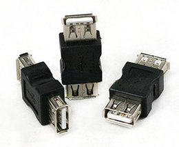Wholesale-Wholesale 200pcs lot Good quality USB A Female to A Female Gender Changer USB 2.0 Adapter free shipping