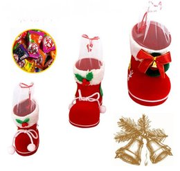 Wholesale Shoe Trees For Boots - Christmas Ornaments Snowflake Christmas Tree Shoes Candy Boots For Boys Girls Giift Free Shipping