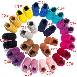 Wholesale BX163 high quality baby moccasins kids moccs baby shoes sandals fringe shoes hot moccs