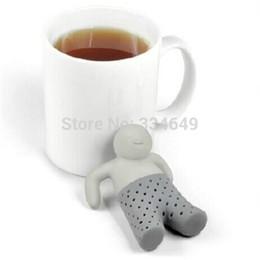 Wholesale Coffee Tea Sets silicone mr tea Teapot cute Mr Tea Infuser Tea Strainer Best Selling