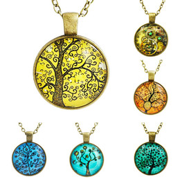 Fashion Women Pendant New Tree of Life Necklace Pendant art and the thought of the tree Silver Family Christmas Style Charm Jewelry Gift
