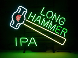 NEW REDHOOK LONG HAMMER IPA BEER REAL Real Glass Neon Light Sign Home Beer Bar Pub Recreation Room Game Room Windows Garage Wall Sign