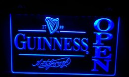 LS468-b Guinness Beer OPEN Bar Neon Light Sign