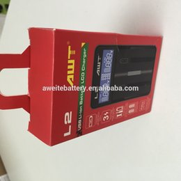 Wholesale 18650 battery charger AWT L2 portable battery charger US Plug UK AU EU plug nimh aa battery battery charger charger