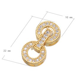 CZ Micro Inlay Brass Fold Over Clasp Plated Micro Pave Cubic Zirconia More Colors For Choice Nickel Lead & Cadmium Free 10x22mm 10PCs Lot