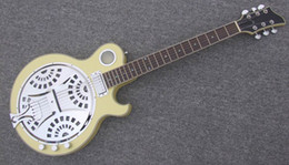 Free Shipping 2016 Brand New Electric Resonator Guitar In Cream Yellow Color