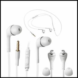 Promotion mains libres universel Pour s8 universel 3.5mm In-Ear Handsfree J5 écouteur casque avec MIC et le volume de contrôle de casque pour Samsung Galaxy S4 S5 note 3 5 7 s6 s7