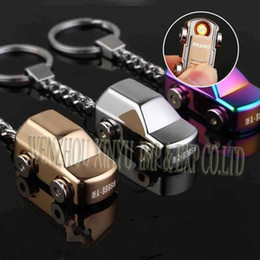 Wholesale Metal windproof A car key ring optional USB rechargeable lighters manufacturers selling lighters Lighter for man